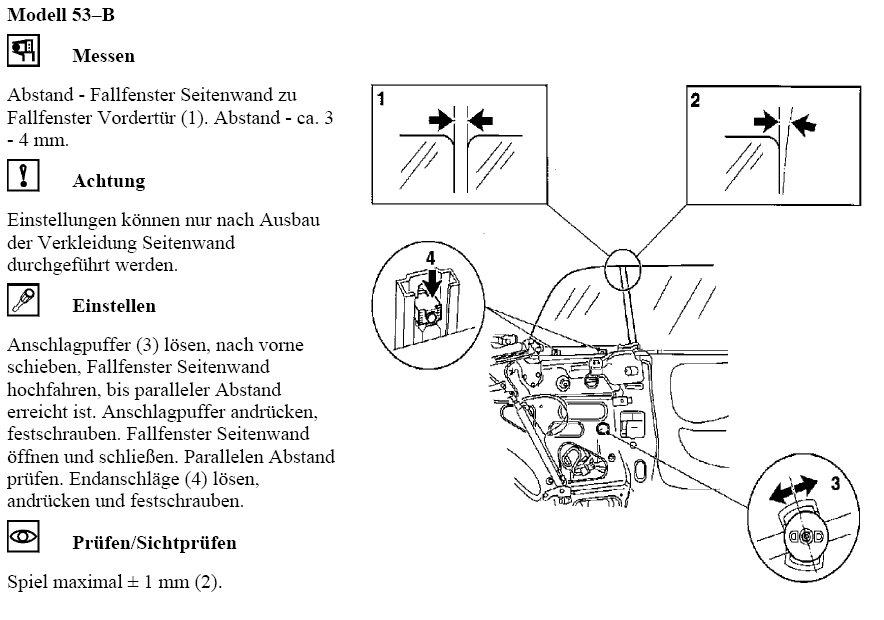 sunny u00b4s opel astra f cabrio seite  scheibeneinstellung